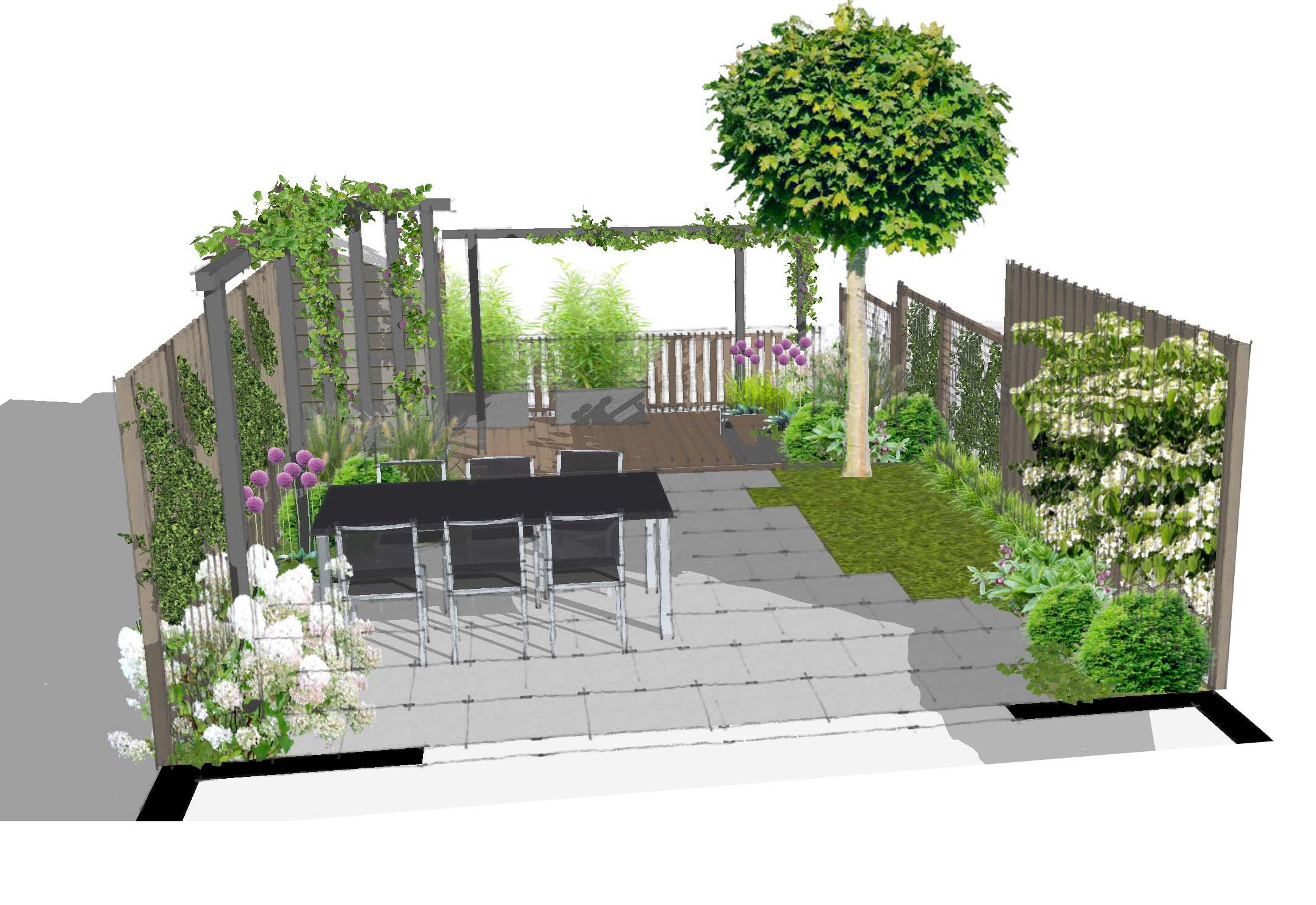 voorbeelden tuinontwerp tuinaanleg tuinonderhoud