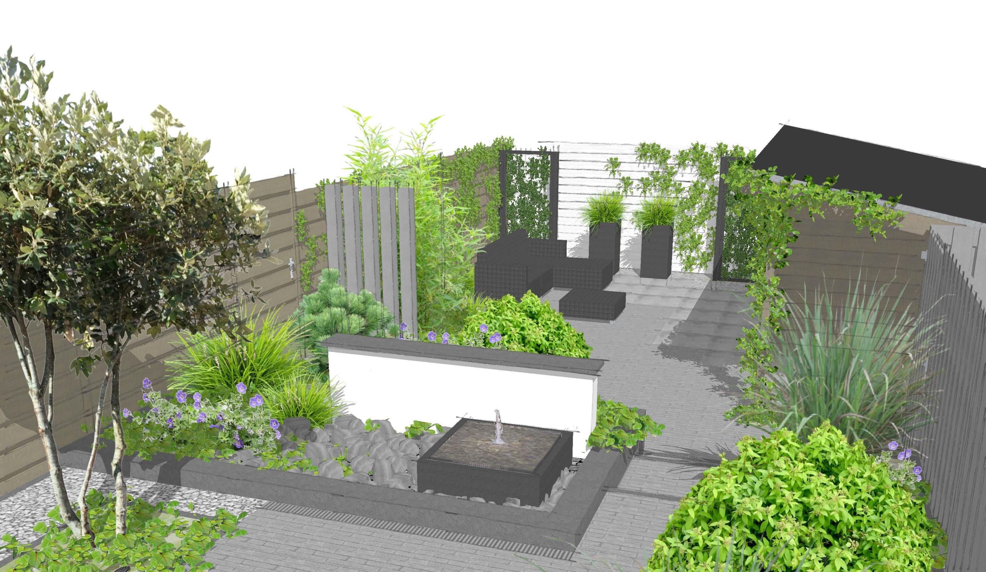 Voorbeelden tuinontwerp tuinaanleg tuinonderhoud for Kleine tuin ontwerpen voorbeelden